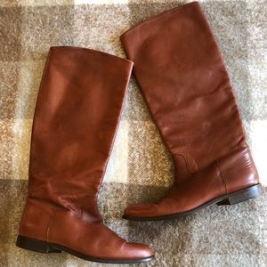 Nordstrom Rust Color Leather boots Made in Italy